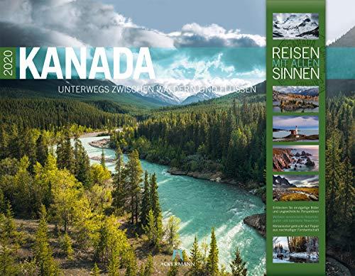 Kanada 2020, Wandkalender im Querformat (54x42 cm) - Natur- und Reisekalender mit Monatskalendarium (Reisen mit allen Sinnen)