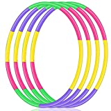 2Buyshop 4 Pack Hoola Hoop for Kids, Size Adjustable & Detachable Length Hoola Hoops Plastic Toys for Kids Adults Party Games, Bodybuilding, Dance, Gymnastics, Lose Weight