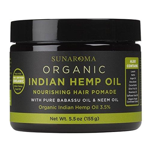 SUNAROMA Organic Hair Pomades (Indian Hemp Oil)