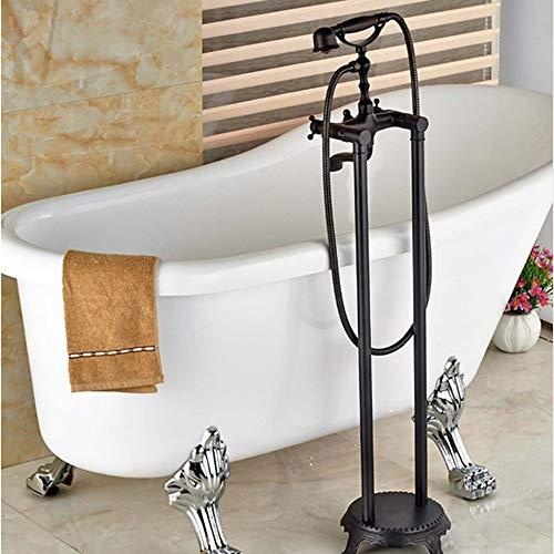 RWJFH Sistema de Ducha Grifo de bañera de baño de Bronce frotado con Aceite con rociador de Ducha de Mano Grifo Mezclador de latón Macizo