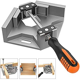 Housolution コーナークランプ 90度 木工用 溶接 直角固定 額縁 フレーム 固定板幅 70mm以下 - Silver Gray