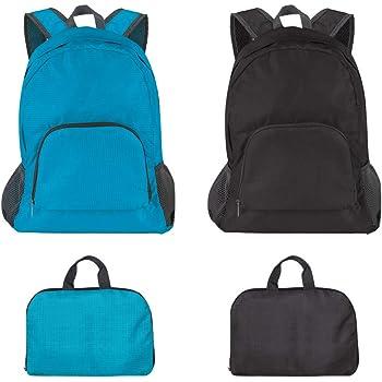 SourceTon - Pack de 2 mochilas plegables ligeras, resistentes al ...