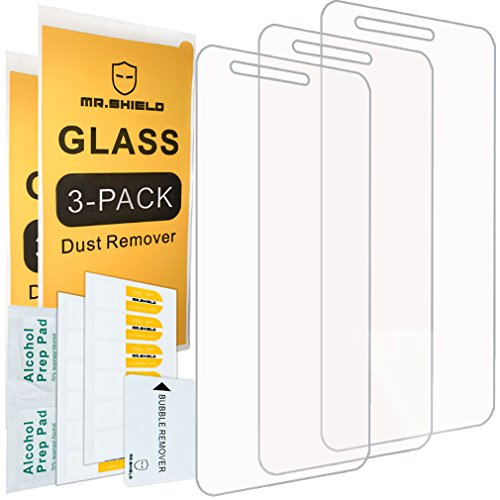 [3-PACK]-Mr.Shield Designed For LG Rebel 3 LTE [Tempered Glass] Screen Protector [Japan Glass With 9H Hardness] with Lifetime Replacement