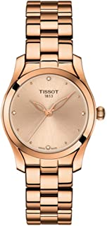 Tissot Stainless Steel Rose Gold Watch For Women - T112.210.33.456