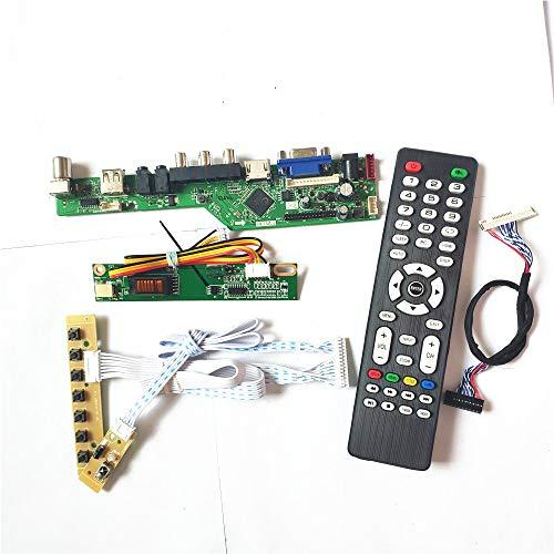 Para LP141WX3-TLB2/TLB4 panel de pantalla LCD VGA HDMI AV USB RF Remote+inversor+teclado 1CCFL 30Pin LVDS T.V53 controlador kit (LP141WX3-TLB4)