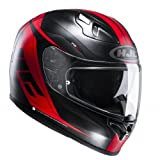 Casco de moto HJC FG-ST Crono MC1SF, color negro/rojo, talla XL