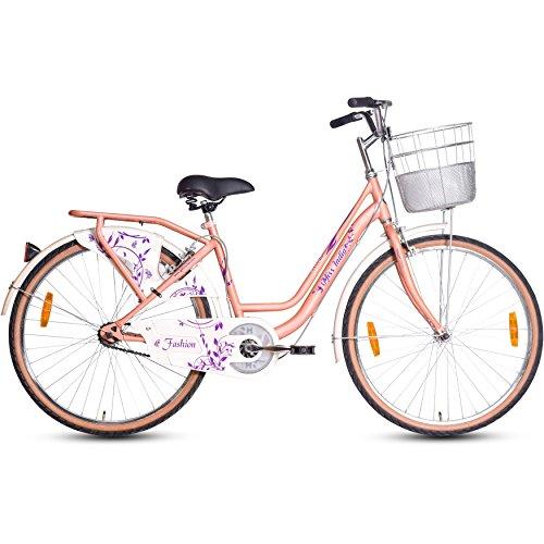 Hero Fashion 24T Single Speed Cycle (Peach)