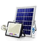 XEX Foco Proyector Solar LED con Control Remoto, Luz De Inundación Solares Súper Brillantes 200-1600w IP67 Impermeable, Luces De Seguridad Solar 260-1400㎡ Iluminación para Jardín Garaje(Size:400W)