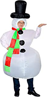 MERICP Snowman Inflatable Clothing - Christmas Inflatable Blow Up Costume for Role Playing Props Christmas Party Decoration