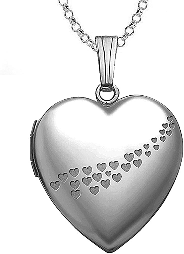PicturesOnGold.com Sterling Silver Cascade Washington Mall Hearts Locke Heart of Limited Special Price