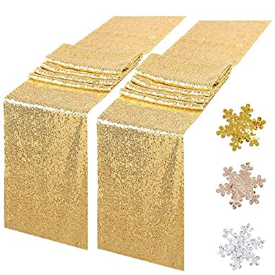 """Sequin Table Runners 2 Pack, 12""""x72"""" Gl..."""