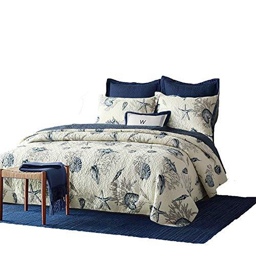 Home Couture en Coton Doubler Courtepointe Ensemble De 3 Pièces (Couette * 1, Taie d'oreiller * 2) Doublure en Coton Lavable Disponible Toute La Saison,230cm*250cm