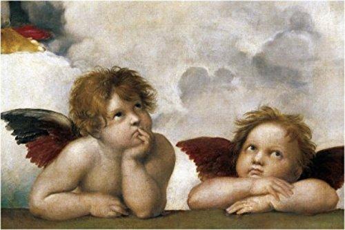 Raphael Poster Adhesive Photo Wall-Print - Raphael's Cherubs (Detail) (71 x 47 inches)