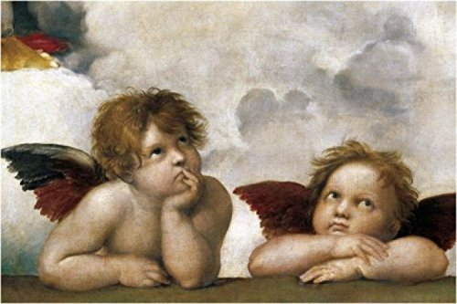 Raphael Poster Adhesive Photo Wall-Print - Raphael's Cherubs (Detail) (71 x 47 inches)