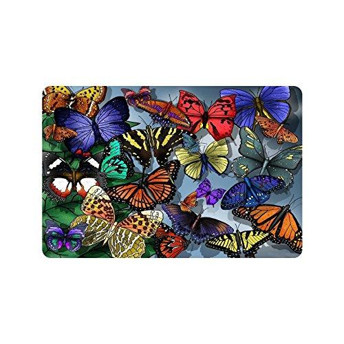 Butterfly Doormat Superbe tapis d'entrée en caoutchouc antidérapant pour intérieur/extérieur/porte d'entrée/salle de bain 59,9 x 39,9 cm