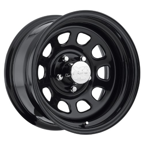 Pro Comp Steel Wheels 51-5862 Rock Crawler Series 51 Black Wheel Size 15x8 Bolt Pattern 5x4.75 Offset 0 Back Spacing 4.5 in. Gloss Black Rock Crawler Series 51 Black Wheel