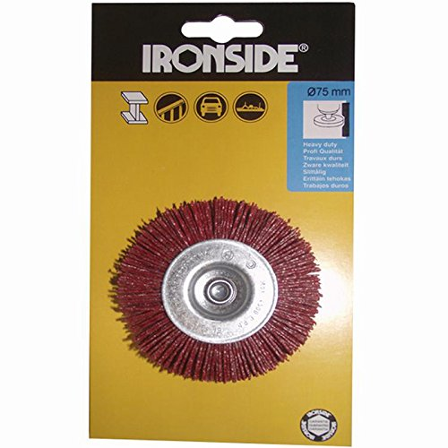 Ironside 243043 nylon ronde borstel 75 mm rood