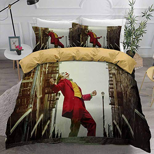 Bedding Set Comforter Duvet Cover Set with Pillowcase,Covers with Zipper Closure,Soft Breathable Teens Boys Bed Set (C,Twin)