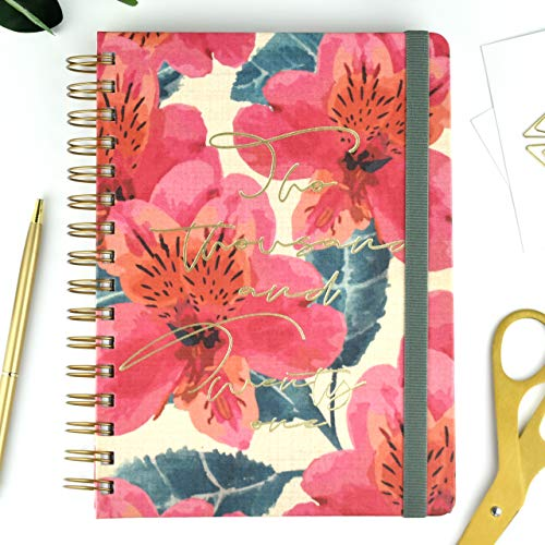 Agenda 2021 Rose - Semana Vista - 224 Páginas - Tamaño A5-16 x 22 cm - Takenote Agendas