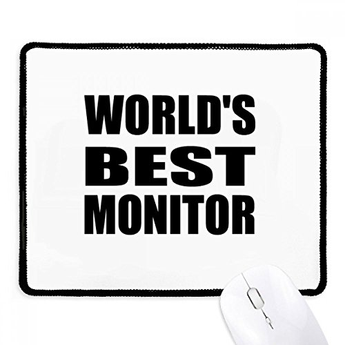 DIYthinker 's Werelds Beste Monitor Afstudeerseizoen Antislip Mousepad Game Kantoor Zwart Titched Edges Gift