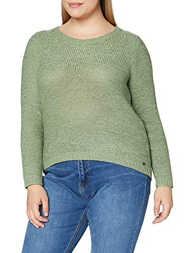Only ONLGEENA XO L/S Pullover KNT Noos Suter Pulver, Color Verde, S para Mujer