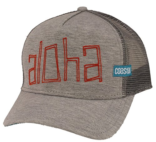 Coastal Trucker Cap Aloha Jersey Grey - One-Size