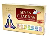 Set de incienso 7 chakras, Premium Indian Masala, 7 variedades Muladhara, Swadhisthana, Manipura, Anahata, Vishudha, Ajna y Sahasra, ideal para meditación/yoga, un elegante conjunto de regalos