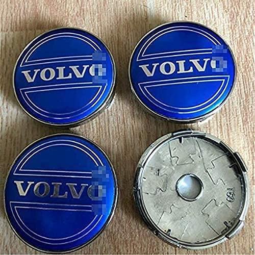 YYHDD 4 Piezas Tapas centrales para Llantas para Volvo XC-60,Aleación de Aluminio Cubierta Centro Rueda Coche,Tapacubos Logo Insignia Tapa a Prueba de Polvo,Coche Accesorios,60mm