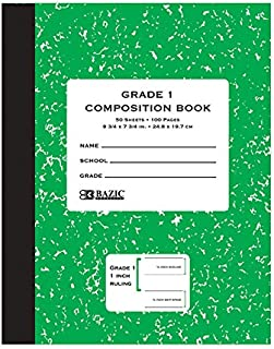 Bazic 50 Count Grade 1 Primary Composition Book (Sold by 1 pack of 72 items) photo