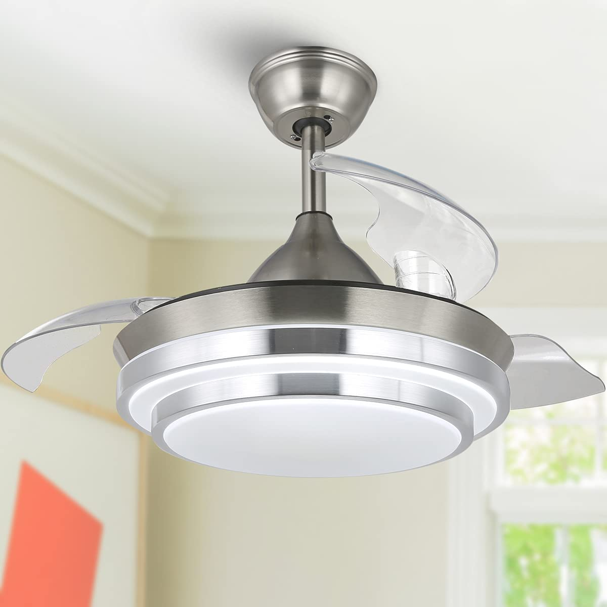 42-in Modern Ceiling Fan Selling rankings Directly managed store Retractable Re Lights with
