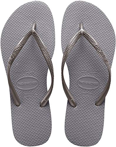 Havaianas Kid's Slim Flip Flop Sandal, Steel Grey, 13/1 M US Little Kid