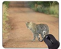 ジャングルタイガースカブマウスパッド、ステッチエッジを持つヒョウマウスパッド