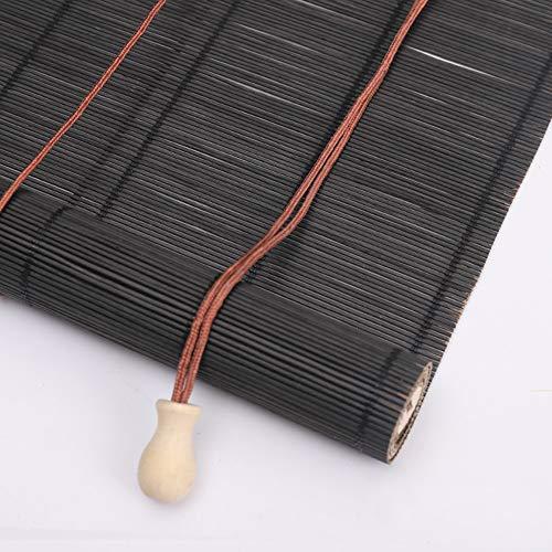 Jolan Persianas Enrollables De Bambú,Estores De Cebra,Cortinas De Madera,Decoración Interior/Jardín/Restaurante,Personalizable,70x80cm/28x31in