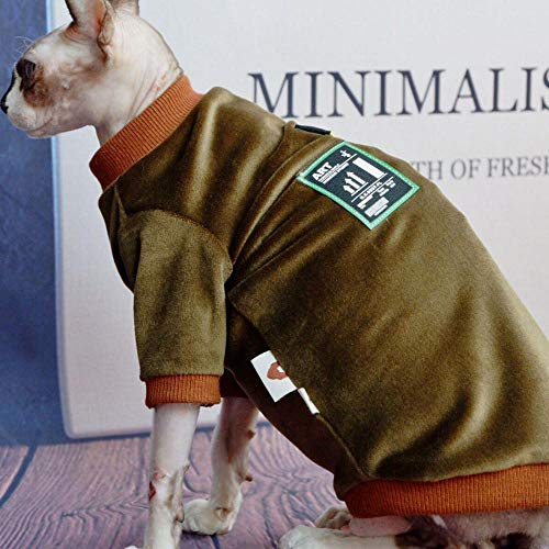 NELIT Sphynx Katzenkleidung Katzenbekleidung Schmutzresistenter Anti-Leck-Nerz-Samt-Warmer Mantel