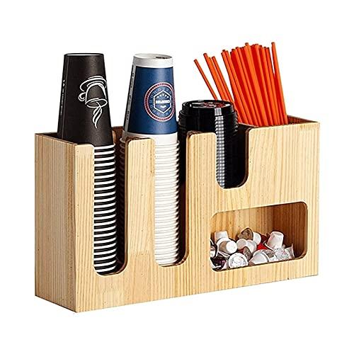 ZXNRTU Ligero y duradero Organizador de condimentos de café 7 compartimentos para una presentación de un programa de café muy profesional PRESENTACIÓN Material de madera arílica o de bambú para la tie