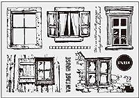 ウィンドウクリアスタンプDIYスクラップブッキング/カード作成/キッズ楽しい装飾用品A2043