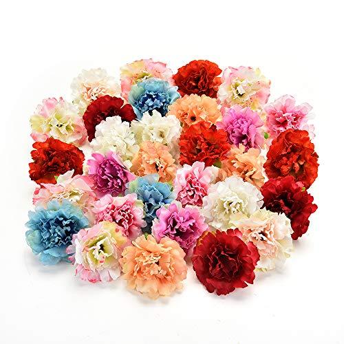 AZXU Seidenblumen in Groß Großhandel Seidenblumen Köpfe Hochzeit Künstliche Blumen Geburtstagsfeier Dekorative Faux Geschenke Blume DIY Zubehör 30 Teile/los 4,5 cm (Multicolor)