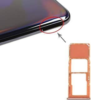 GXX Lin SIM Card Tray + Micro SD Card Tray for Galaxy A70 (Black) (Color : Orange)