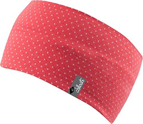 FEINZWIRN Zurich Headband, Sommerband Für Freizeitaktive,zweifarbige Stirnband aus atmungsaktivem Baumwolljersey (pink-weiß)