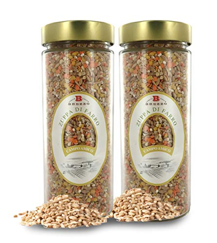 Brezzo Mezcla de Cereales: Cebada Perlada, Farro, Avena y Lentejas | 450 Gramos