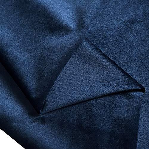 MUYUNXI Tela De Terciopelo Suave para Coser De Chaquetas Decoración Decoración del Hogar Cortinas Tapicería Vestido Sillas 150 Cm De Ancho Vendido por 2 Metro(Color:Azul Vintage)