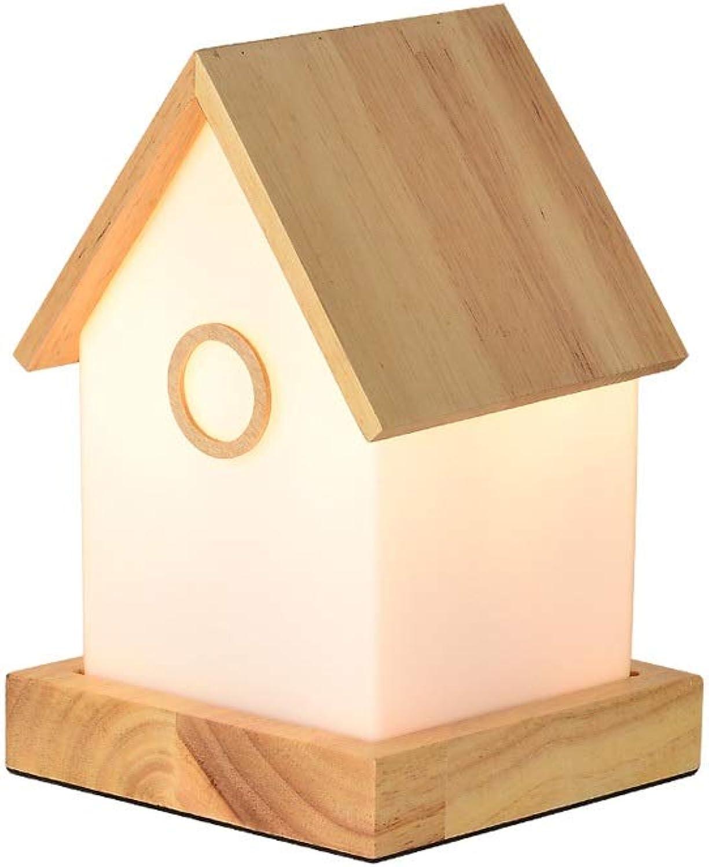 Dkdnjsk Kreative Holzhütte Tischlampe Wohnzimmer Esszimmer Dekoration Tischleuchte Schlafzimmer Nachttischlampe Schreibtischlampe Studie lesen Tischleuchte E27 Gewhnliche Glühbirne Schreibtischlampe