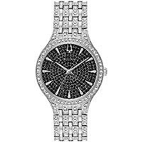 Bulova Phantom Black Pave Dial Stainless Steel Ladies Watch (96L273)
