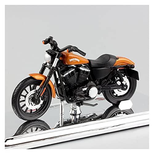 Boutique 1:18 para Harley 2014 Sportster Iron 883 Diecast Y Modelos Vehículos Motocicleta Bicicleta Juguete Miniaturas Hobby Regalo para (Color : Brass)