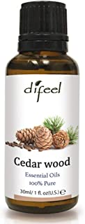 Difeel Essential Oil 100% Pure Cedar Wood Oil 1 ounce (2-PACK)