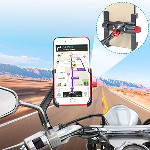 Soporte móvil de aluminio con rotación 360° para moto