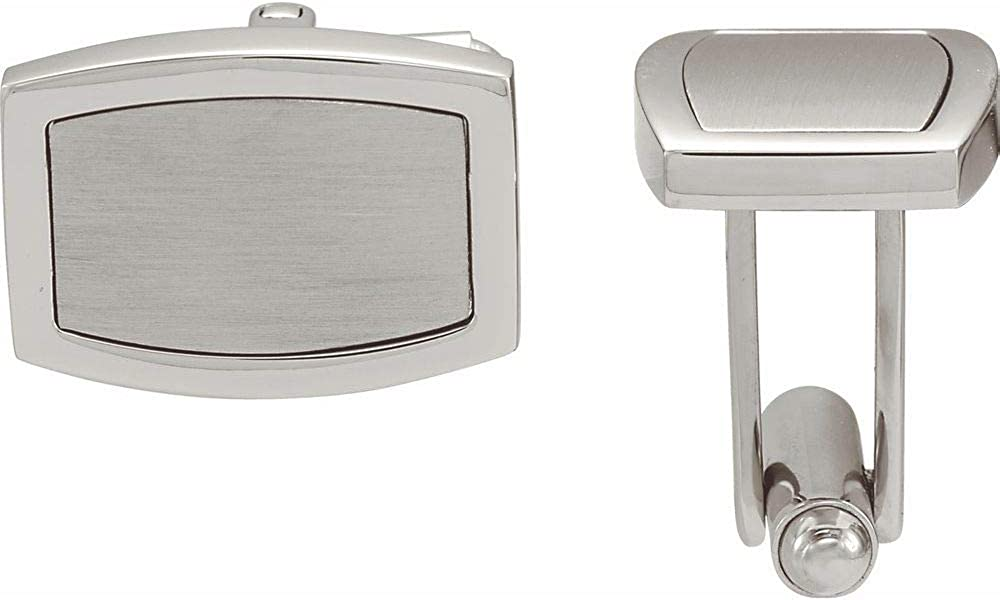 Stainless Steel Men's Cuff Links