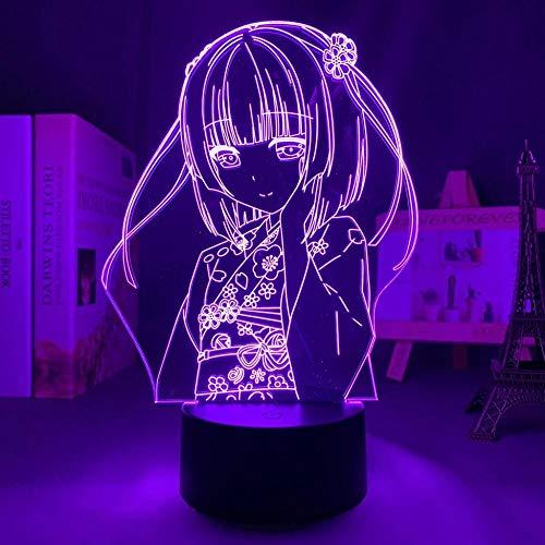 Lámpara de escritorio LED 3D ilusión ilusión lámpara de escritorio Anime japonesa luz Nekopara Shigure Minazuki lamp,para niños dormitorio decoración luz nocturna regalo de cumpleaños