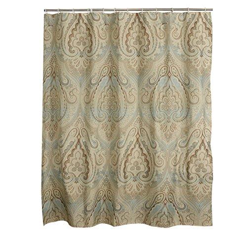 [rideau de douche de salle de bains] Polyester Rideau de cloison Salle de bains douche imperméable rideau suspendu Rideau épais d'ombre-A 120x200cm(47x79inch)