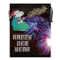 巾着袋 収納袋 スヌーピー新年 小物入れ 撥水加工 アウトドア 旅行 出張 収納バッグ 軽量 防塵 丈夫 衣類 靴入れ ラッピング袋 ギフトラッピング プレゼント用 かわいい おしゃれ